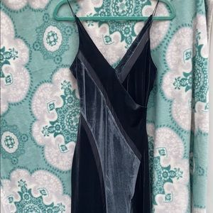 NWT Free People Spliced Velvet Charcoal Maxi